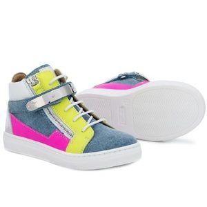 giuseppe zanotti • NEW • kids colorblock sneakers